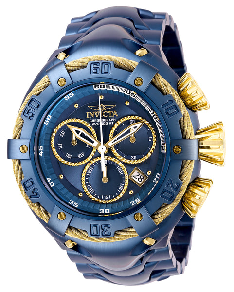 Invicta Men's 27519 Bolt Quartz Chronograph Blue, Gold Dial Watch
