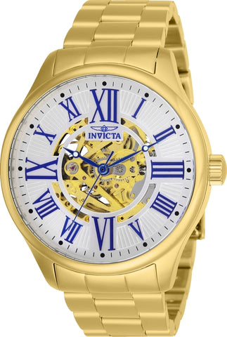 Invicta Men's 27556 Objet D Art Automatic 3 Hand Silver Dial Watch