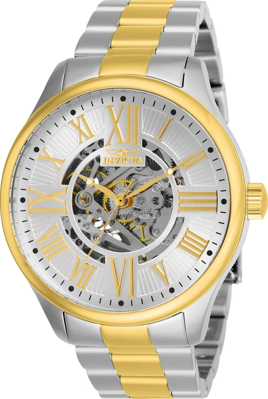 Invicta Men's 27557 Objet D Art Automatic 3 Hand Silver Dial Watch