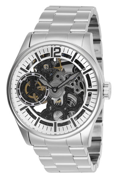 Invicta Men's 27565 Vintage Mechanical 3 Hand Silver Dial Watch