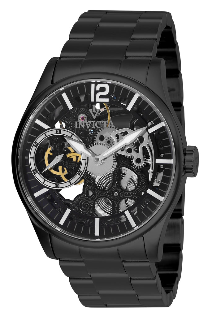 Invicta Men's 27567 Vintage Mechanical 3 Hand Black Dial Watch