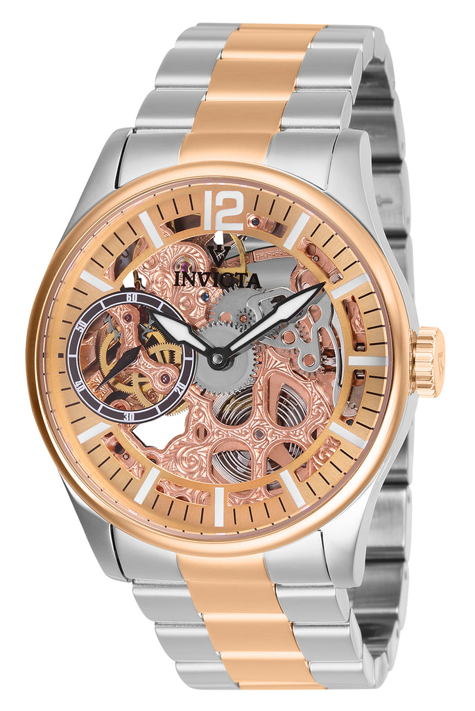 Invicta Men's 27569 Vintage Mechanical 3 Hand Rose Gold Dial Watch