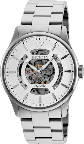 Invicta Men's 27570 Objet D Art Automatic 3 Hand White Dial Watch