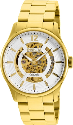 Invicta Men's 27571 Objet D Art Automatic 3 Hand White Dial Watch