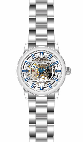 Invicta Men's 27586 Objet D Art Automatic 3 Hand Silver Dial Watch