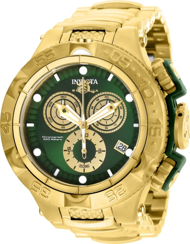 Invicta Men's 27675 Subaqua Quartz Chronograph Green, Gold Dial Watch