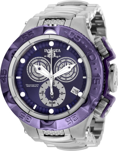 Invicta Men's 27678 Subaqua Quartz Chronograph Purple, Silver Dial Watch