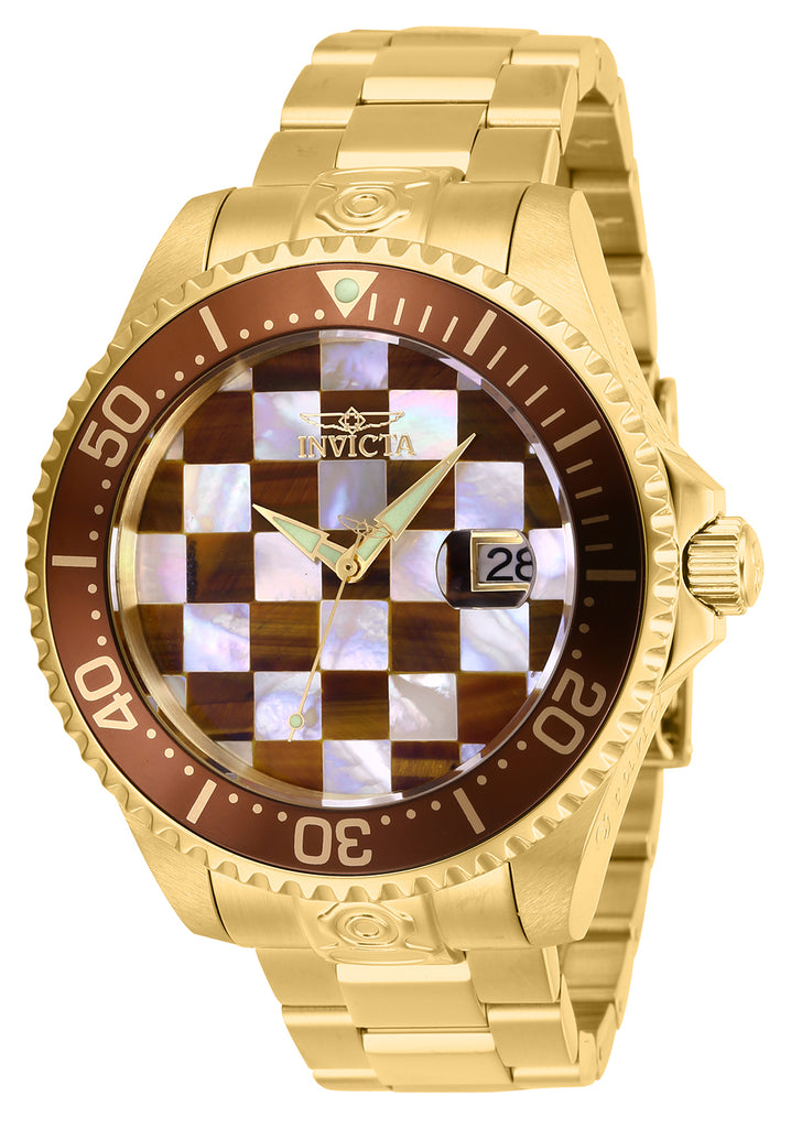 Invicta Men's 27775 Pro Diver Automatic 3 Hand White, Brown Dial Watch
