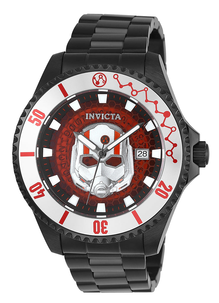 Invicta Men's 27781 Marvel Automatic 3 Hand Black, Red Dial Watch