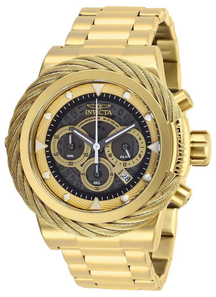 Invicta Men's 27802 Bolt Quartz Chronograph Grey, Gold Dial Watch
