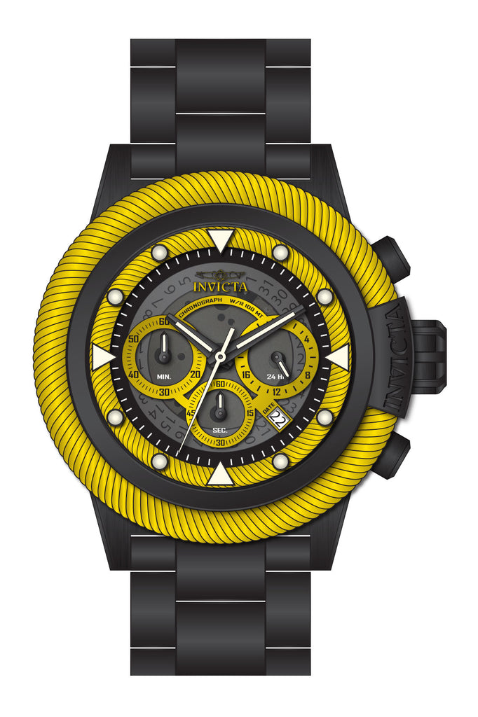 Invicta Men's 27809 Bolt Quartz Chronograph Grey, Yellow Dial Watch