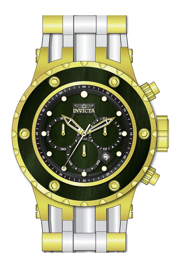 Invicta Men's 27913 Specialty Quartz Chronograph Green Wood Dial Watch
