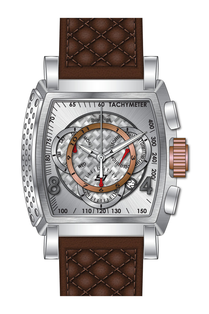 Invicta Men's 27916 S1 Rally Quartz Multifunction Antique Silver, Rose Gold Dial Watch