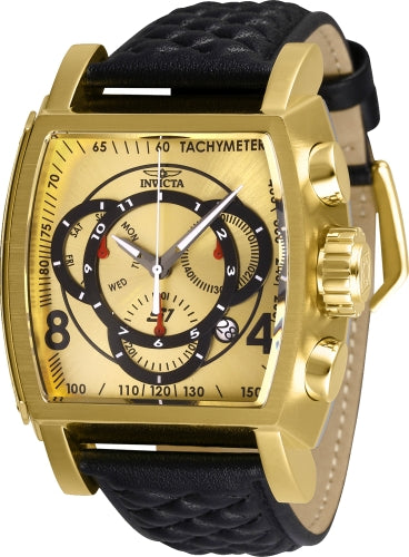 Invicta Men's 27930 S1 Rally Quartz Multifunction Gold, Black Dial Watch
