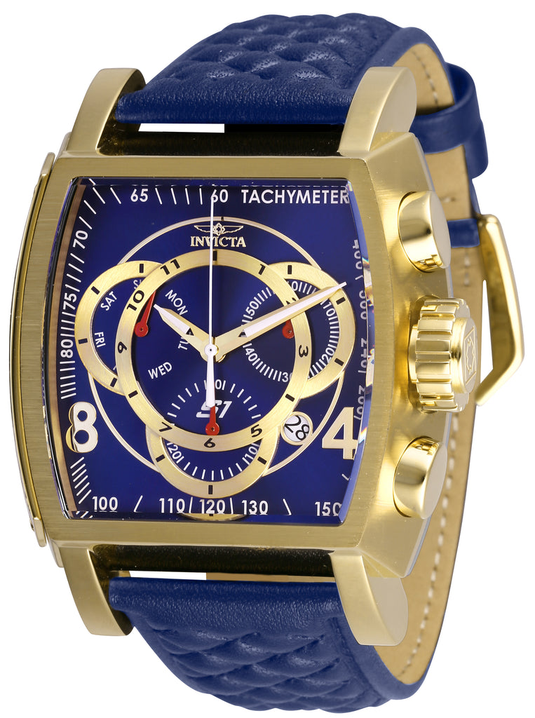 Invicta Men's 27933 S1 Rally Quartz Multifunction Blue, Gold Dial Watch