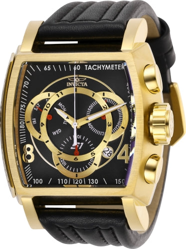 Invicta Men's 27950 S1 Rally Quartz Multifunction Black, Gold Dial Watch