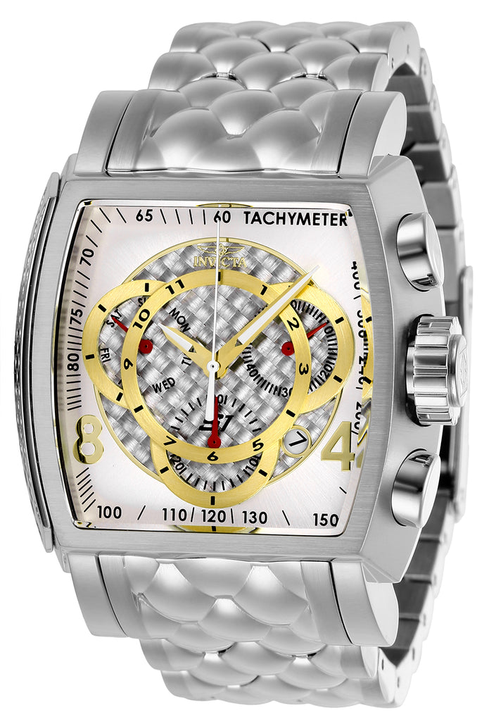 Invicta Men's 27954 S1 Rally Quartz Multifunction Silver, Gold Dial Watch