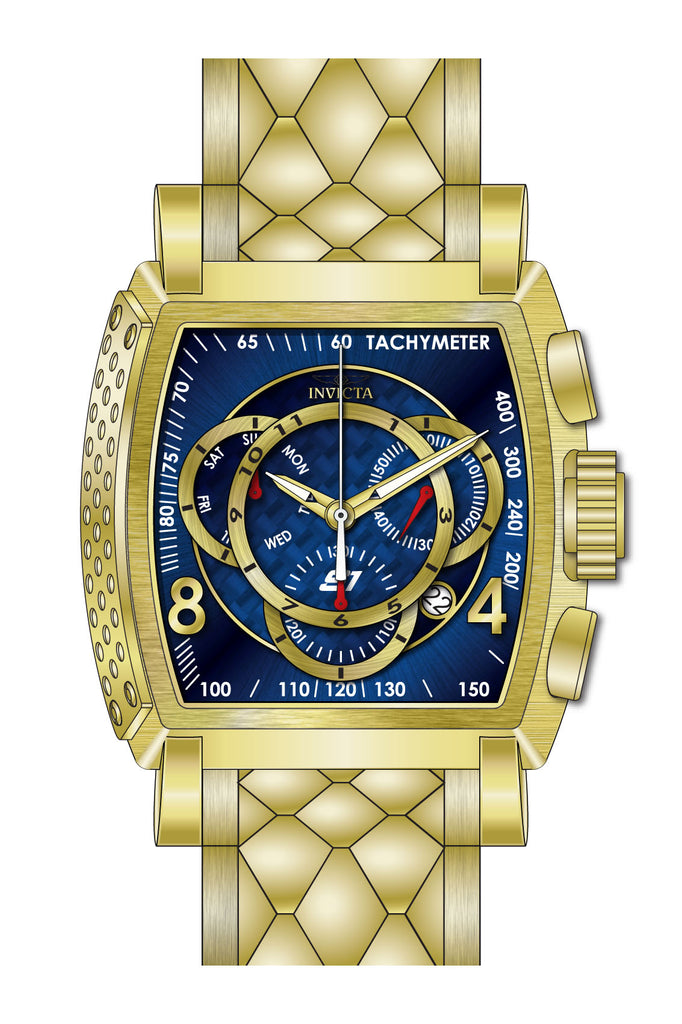 Invicta Men's 27957 S1 Rally Quartz Multifunction Blue, Gold Dial Watch