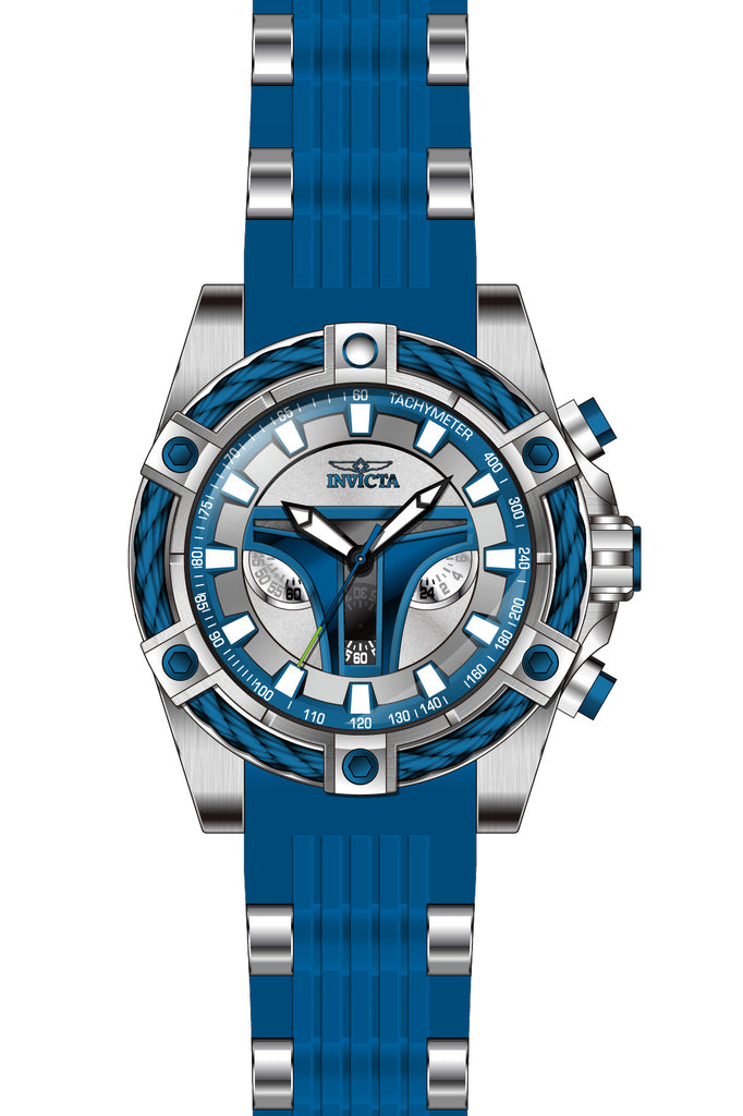 Invicta Men's 27968 Star Wars Quartz 3 Hand Silver, Blue Dial Watch