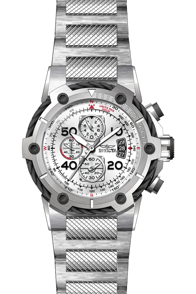 Invicta Men's 28024 Bolt Quartz Multifunction Silver Dial Watch