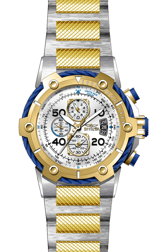 Invicta Men's 28025 Bolt Quartz Multifunction Silver Dial Watch