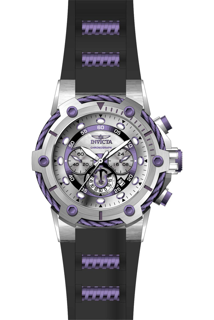 Invicta Men's 28038 Bolt Quartz Chronograph Silver, Purple Dial Watch