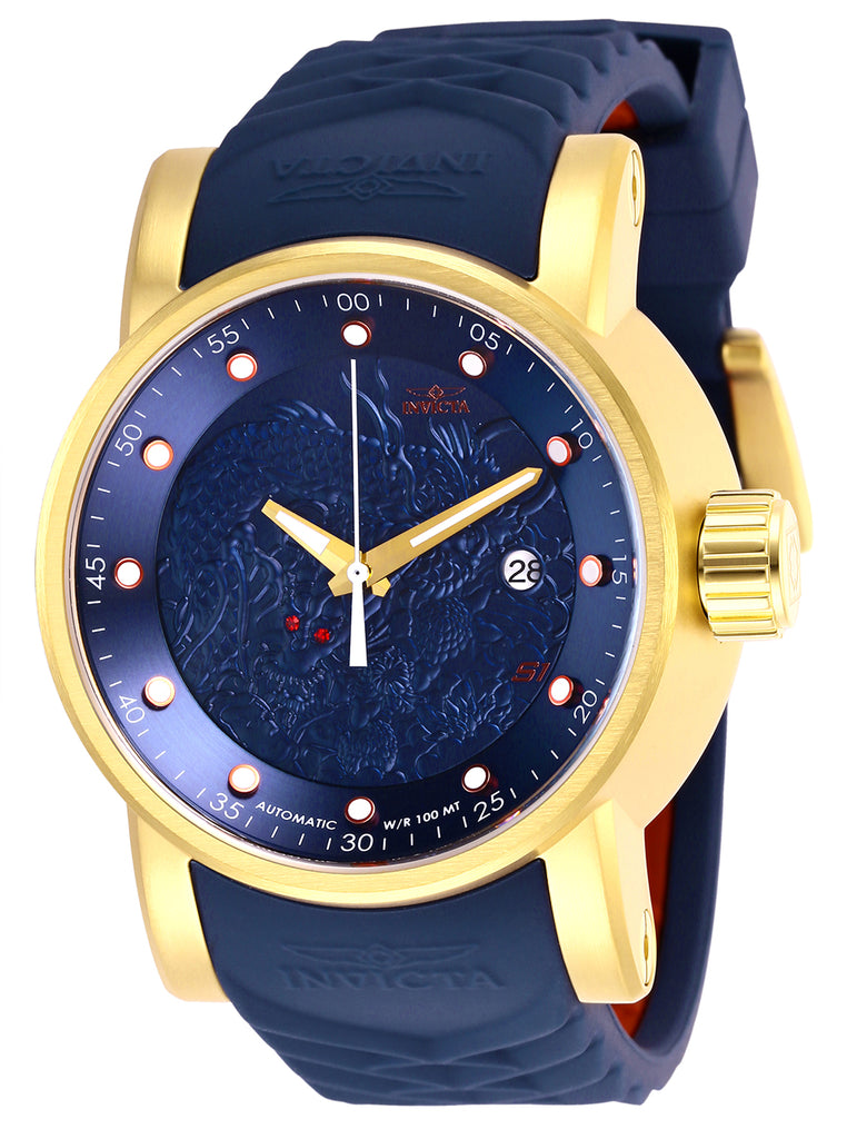 Invicta Men's 28178 S1 Rally Automatic 3 Hand Blue Dial Watch
