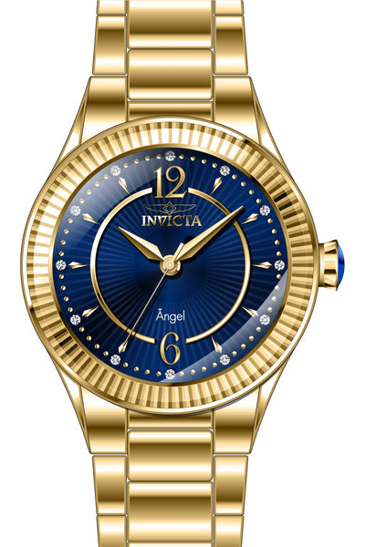 Invicta Women's 28281 Angel Quartz 3 Hand Blue Dial Watch