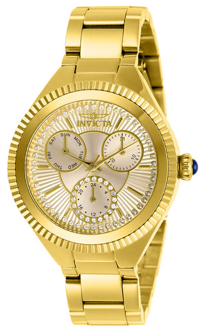 Invicta Women's 28345 Angel Quartz 3 Hand Gold Dial Watch
