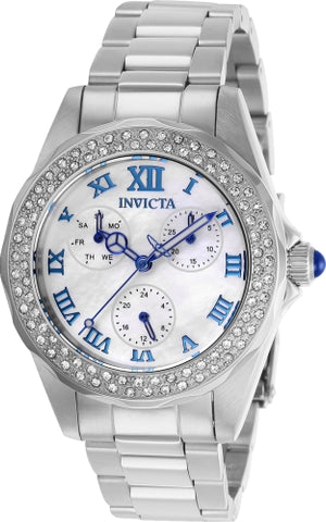 Invicta  Women's 28436 Angel Quartz 3 Hand White Dial Watch