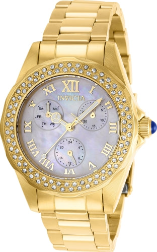 Invicta  Women's 28438 Angel Quartz 3 Hand White Dial Watch
