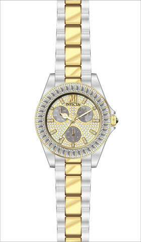 Invicta Women's 28447 Angel Quartz 3 Hand Pave, White Dial Watch