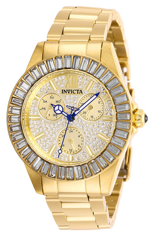 Invicta Women's 28448 Angel Quartz Chronograph Pave, Gold Dial Watch