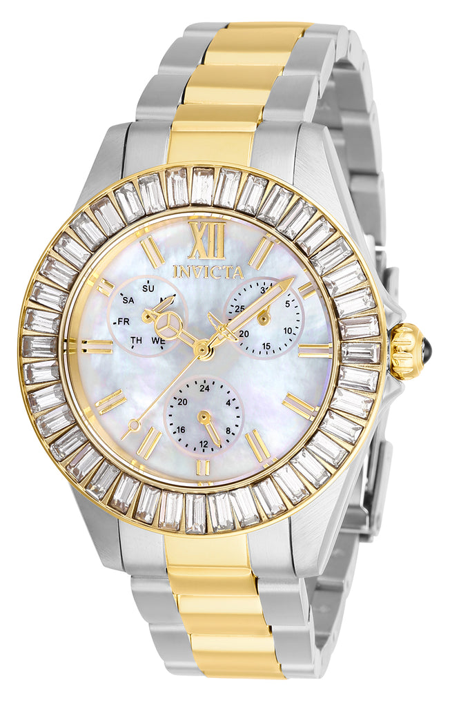 Invicta Women's 28451 Angel Quartz 3 Hand White Dial Watch