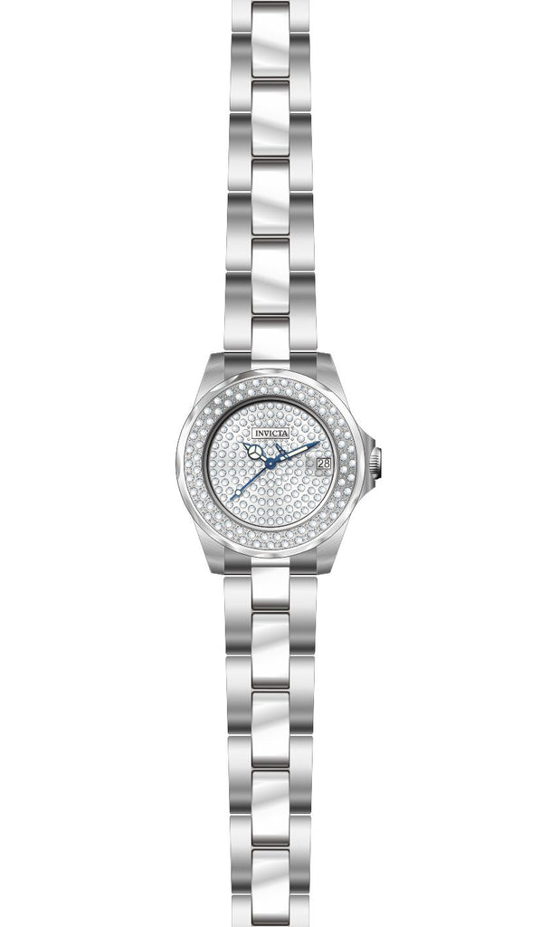 Invicta  Women's 28453 Angel Quartz 3 Hand Pave Dial Watch