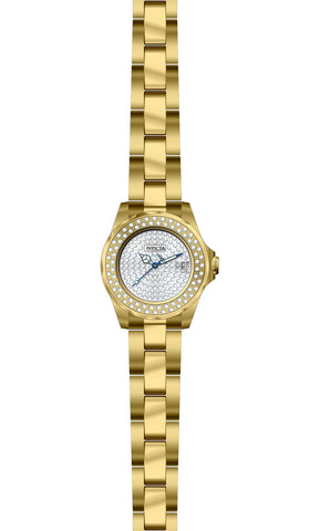 Invicta  Women's 28456 Angel Quartz 3 Hand Pave Dial Watch