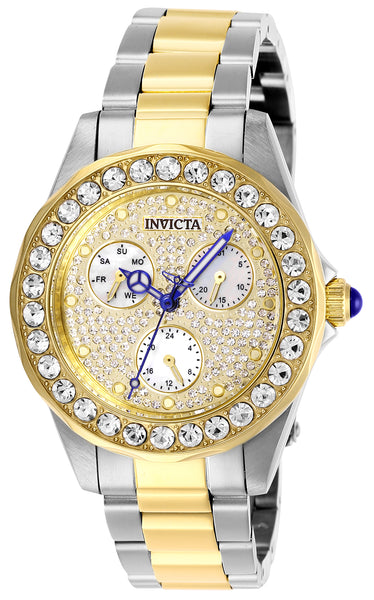 Invicta Women's 28458 Angel Quartz Chronograph Pave, White Dial Watch