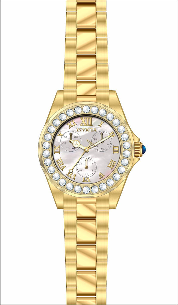 Invicta Women's 28465 Angel Quartz 3 Hand White Dial Watch