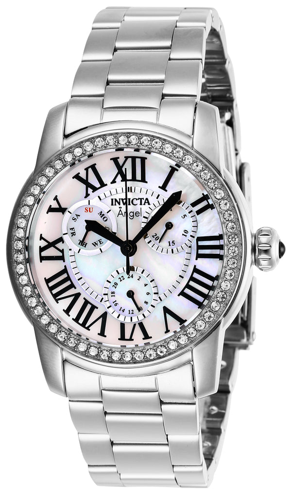 Invicta Women's 28470 Angel Quartz Chronograph White Dial Watch