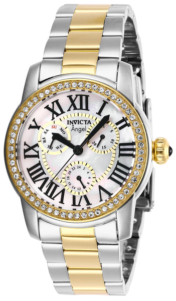 Invicta Women's 28471 Angel Quartz Chronograph White Dial Watch