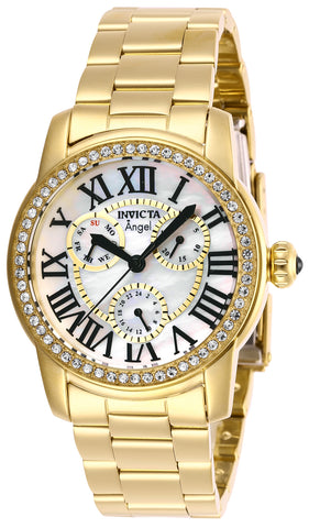 Invicta Women's 28472 Angel Quartz Chronograph White Dial Watch