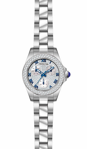 Invicta  Women's 28473 Angel Quartz 3 Hand Pave, White Dial Watch