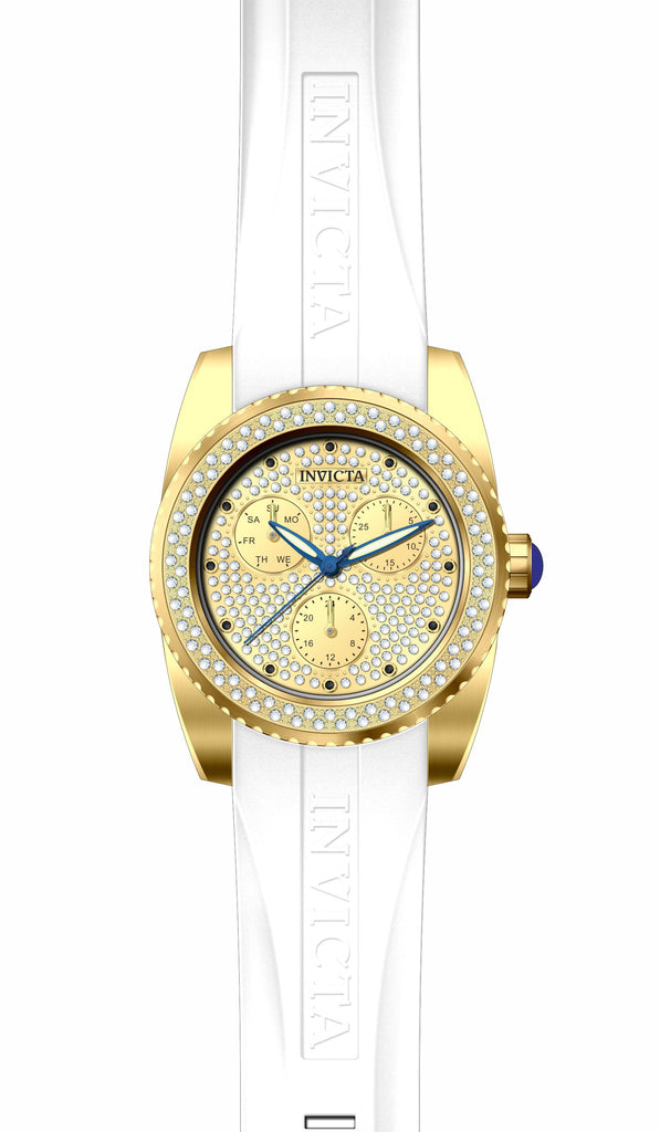 Invicta Women's 28484 Angel Quartz Chronograph Pave, Gold Dial Watch