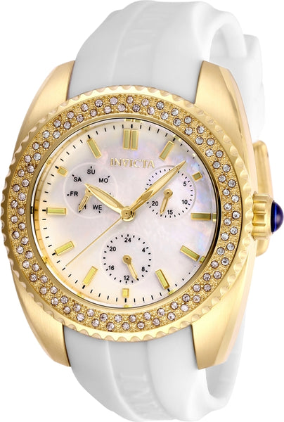 Invicta  Women's 28488 Angel Quartz 3 Hand White Dial Watch