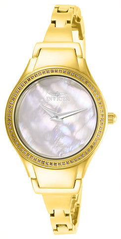 Invicta Women's 28505 Angel Quartz 3 Hand Gold Dial Watch