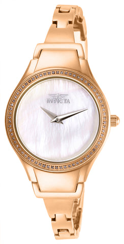 Invicta Women's 28506 Angel Quartz 3 Hand Rose Gold Dial Watch