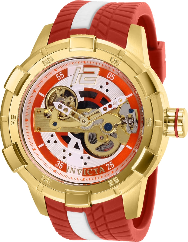 Invicta Men's 28587 S1 Rally Automatic Multifunction Gold, Red Dial Watch