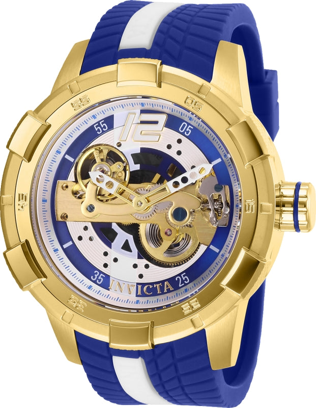 Invicta Men's 28588 S1 Rally Automatic Multifunction Gold, Blue Dial Watch