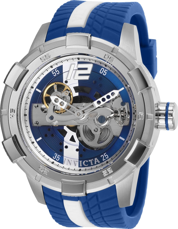 Invicta Men's 28593 S1 Rally Automatic Multifunction Blue, Silver Dial Watch