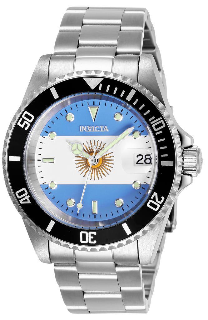 Invicta Men's 28700 Pro Diver Automatic 3 Hand Argentina Flag Dial Watch